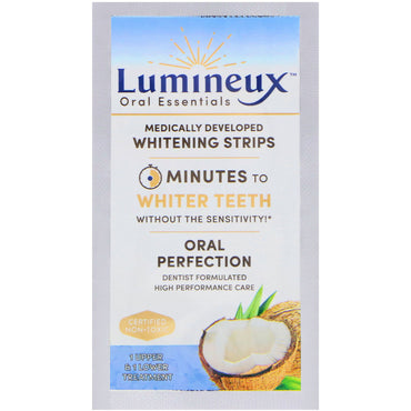 Oral Essentials, Lumineux, Medically Developed Whitening Strips, 1 Upper & Lower Treatment