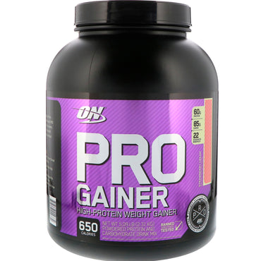Optimum Nutrition, Pro Gainer, Strawberry Cream, 5.09 lbs (2.31 kg)