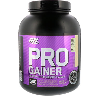 Optimum Nutrition, Pro Gainer, High-Protein Weight Gainer, Vanilla Custard, 5.09 lb (2.31 kg)