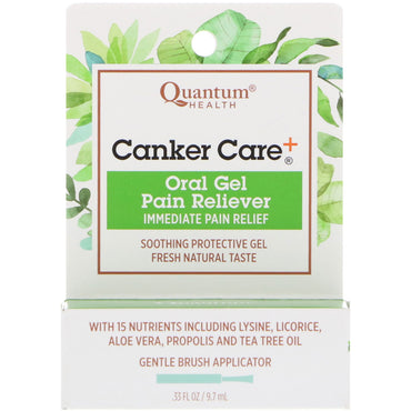 Quantum Health, Canker Care+, Oral Gel Pain Reliever, .33 fl oz (9.7 ml)