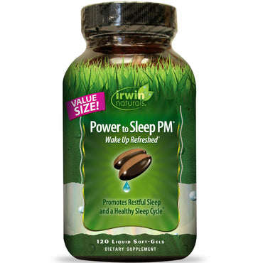 Irwin Naturals, Power to Sleep PM, 120 Liquid Soft-Gels