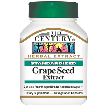 21st Century, Grape Seed Extract, 60 Veggie Caps