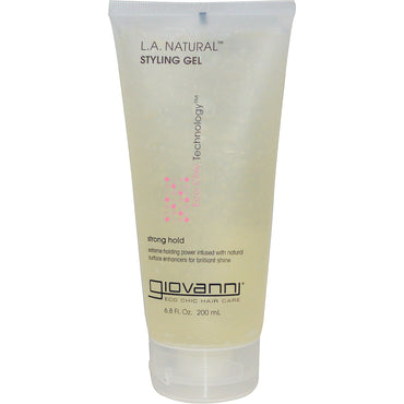 Giovanni, L.A. Natural, Styling Gel, Strong Hold, 6.8 fl oz (200 ml)
