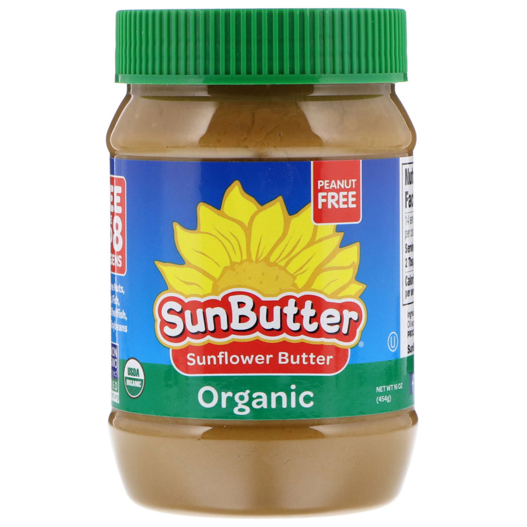 SunButter, Organic Sunflower Butter, 16 oz (454 g)