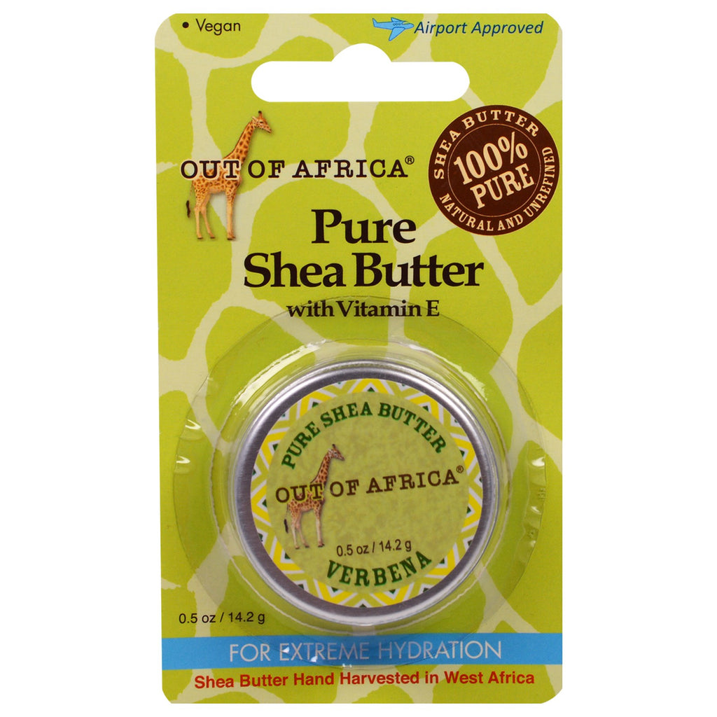 Out of Africa Pure Shea Butter with Vitamin E Verbena 0.5 oz (14.2 g)
