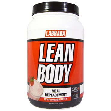 Labrada Nutrition, Lean Body, Meal Replacement, Strawberry, 2.47 lb (1120 g)