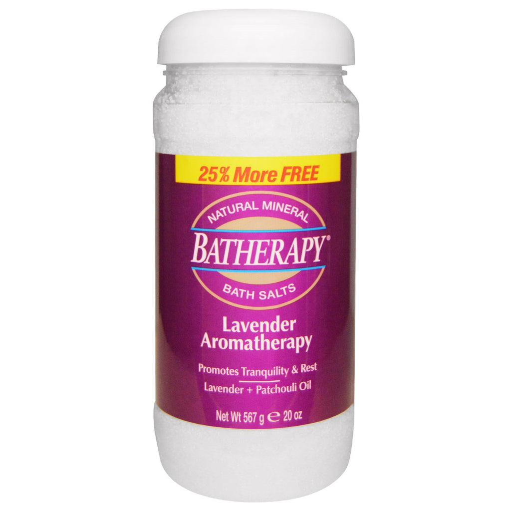 Queen Helene, Batherapy, Natural Mineral Bath Salts, Lavender Aromatherapy, 20 oz (567 g)