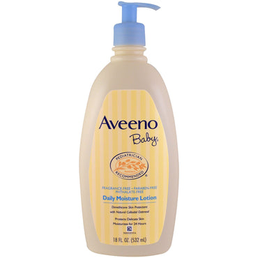 Aveeno Baby Daily Moisture Lotion Fragrance Free 18 fl oz (532 ml)