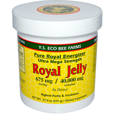Y.S. Eco Bee Farms, Royal Jelly, in Honey, 675 mg, 21.0 oz (595 g)