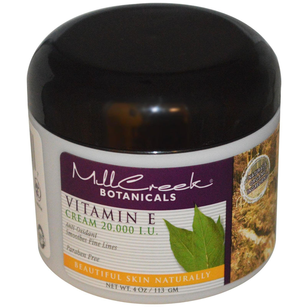 Mill Creek, Vitamin E Cream, 20,000 IU, 4 oz (113 g)