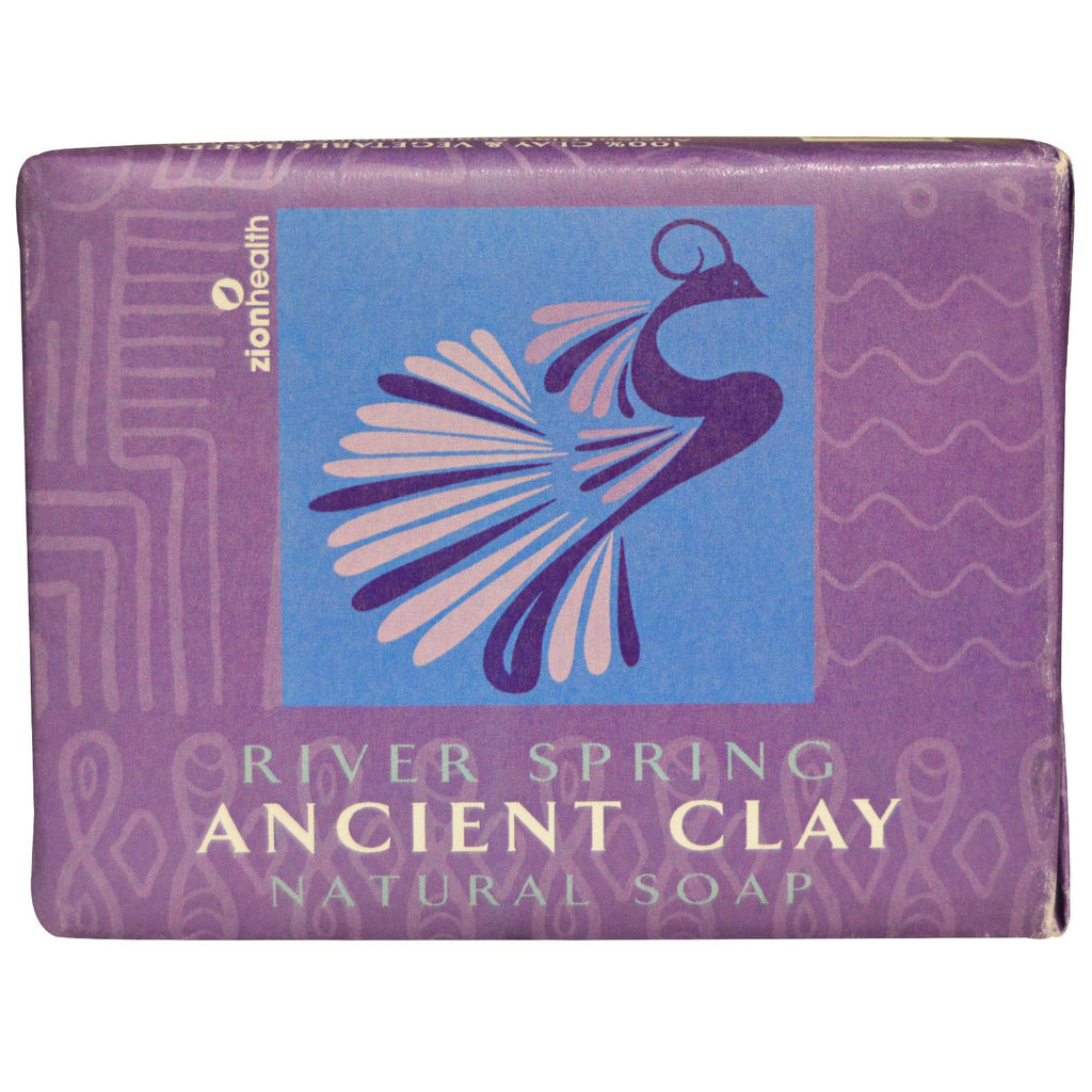 Zion Health, Ancient Clay Natural Soap, River Spring, 10.5 oz (300 g)