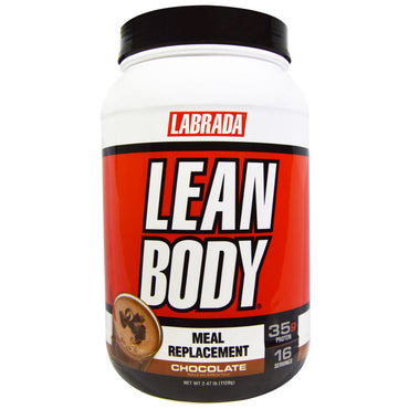 Labrada Nutrition, Lean Body, Meal Replacement, Chocolate, 2.47 lbs (1120 g)