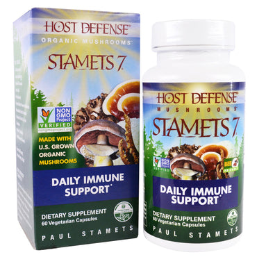 Fungi Perfecti, Host Defense, Stamets 7, Daily Immune Support, 60 Veggie Caps