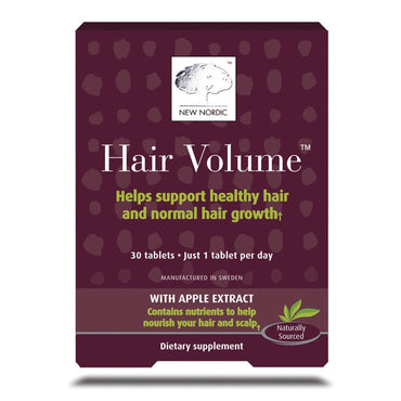 New Nordic US Inc Hair Volume With Apple Extract 30 Tablets