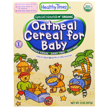 Healthy Times Organic Cereal for Baby Oatmeal 8 oz (227 g)