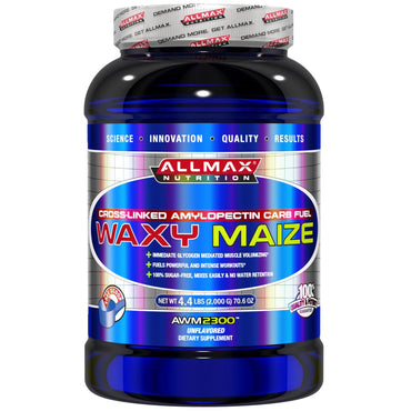 ALLMAX Nutrition, Waxy Maize, Cross-Linked Amylopectin Carb Fuel, Unflavored, 70.6 oz (2,000 g)