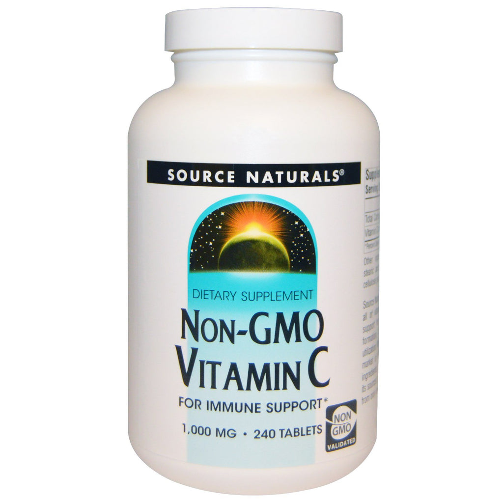 Source Naturals, Non-GMO Vitamin C, 1,000 mg, 240 Tablets