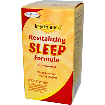 Enzymatic Therapy, Fatigued to Fantastic! Revitalizing Sleep Formula, 30 Veggie Caps