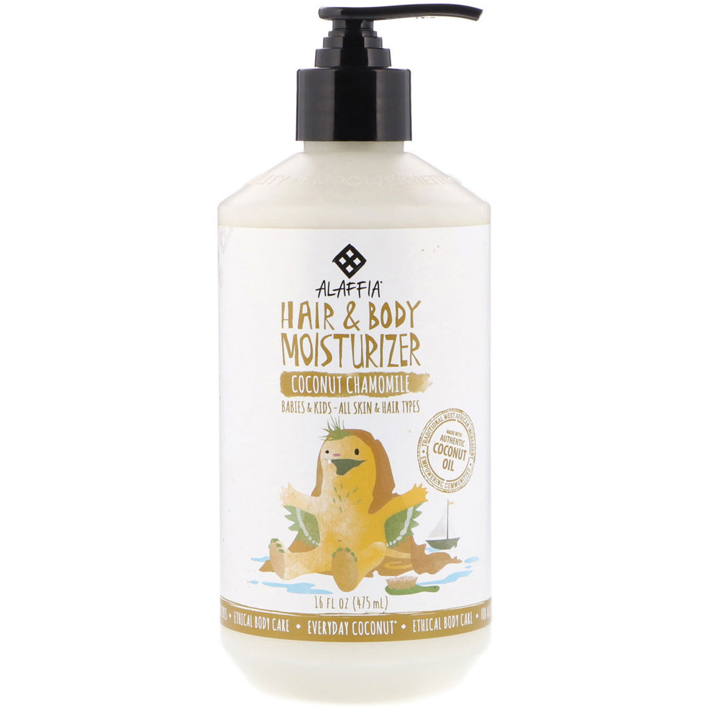 Everyday Coconut Hair & Body Moisturizer Babies & Kids All Skin & Hair Types Coconut Chamomile 16 fl oz (475 ml)