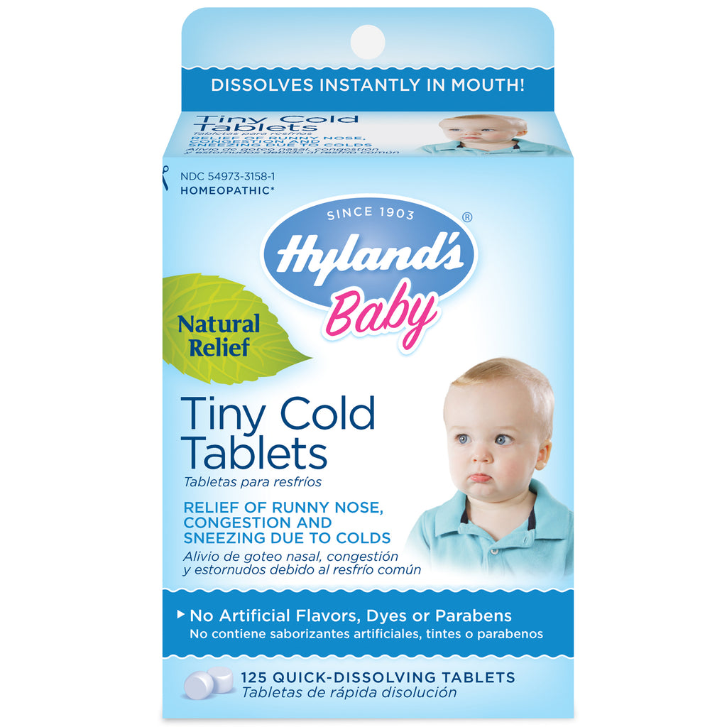 Hyland's, Baby, Tiny Cold Tablets, 6 Months + , 125 Quick-Dissolving Tablets