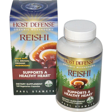 Fungi Perfecti, Host Defense, Reishi, Supports A Healthy Heart, 120 Veggie Caps