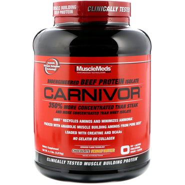 MuscleMeds, Carnivor, Bioengineered Beef Protein Isolate, Chocolate Peanut Butter, 4.4 lbs (2,016 g)