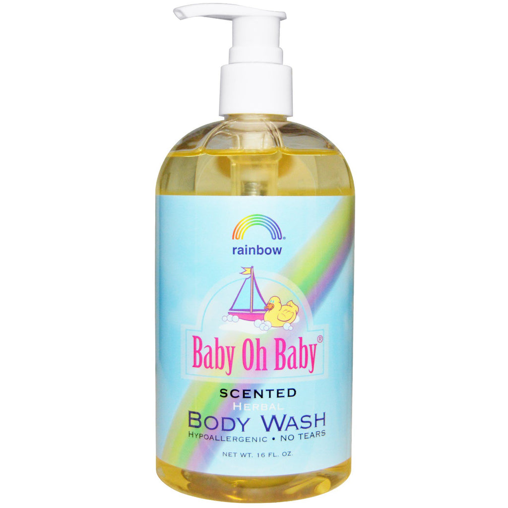 Rainbow Research Baby Oh Baby Herbal Body Wash Scented 16 fl oz