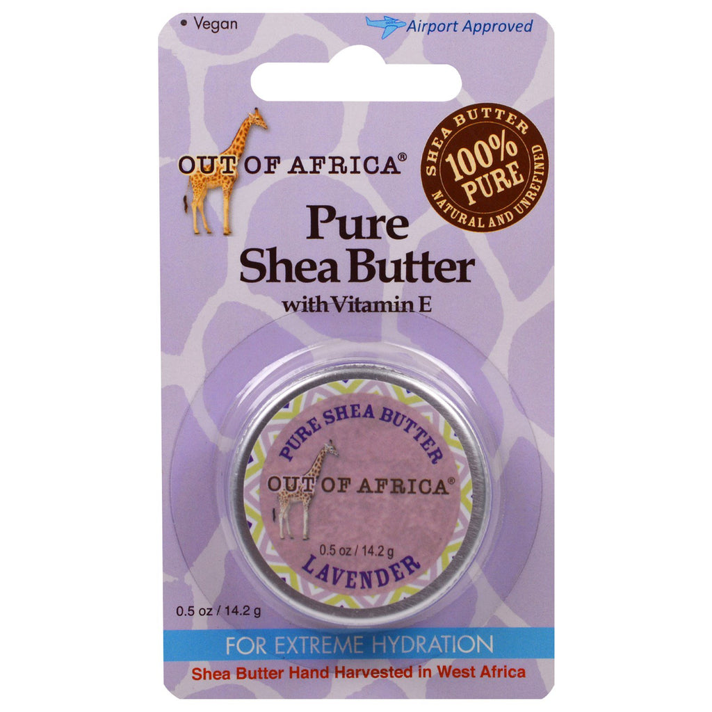 Out of Africa Pure Shea Butter with Vitamin E Lavender 0.5 oz (14.2 g)