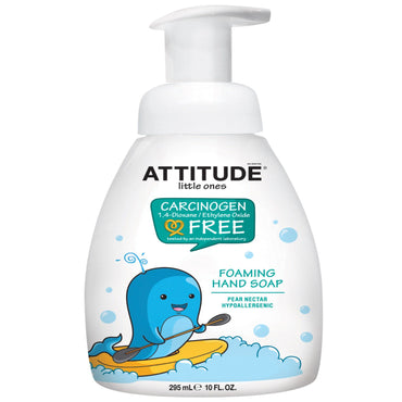 ATTITUDE, Little Ones, Foaming Hand Soap, Pear Nectar, 10 fl oz (295 ml)