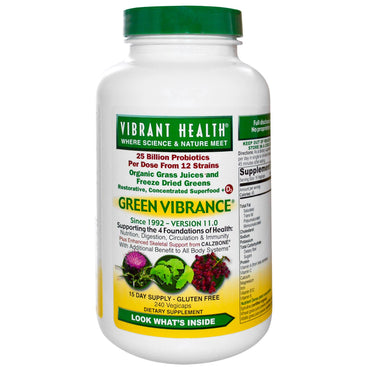 Vibrant Health, Green Vibrance, Version 17.0, 240 VegiCaps