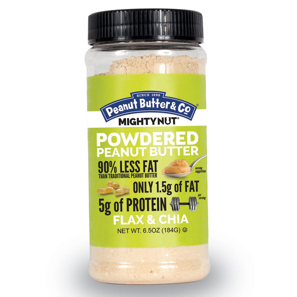Peanut Butter & Co., Mighty Nut, Powdered Peanut Butter, Flax & Chia, 6.5 oz. (184 g)