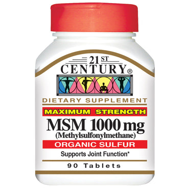 21st Century, MSM Maximum Strength, 1,000 mg, 90 Tablets
