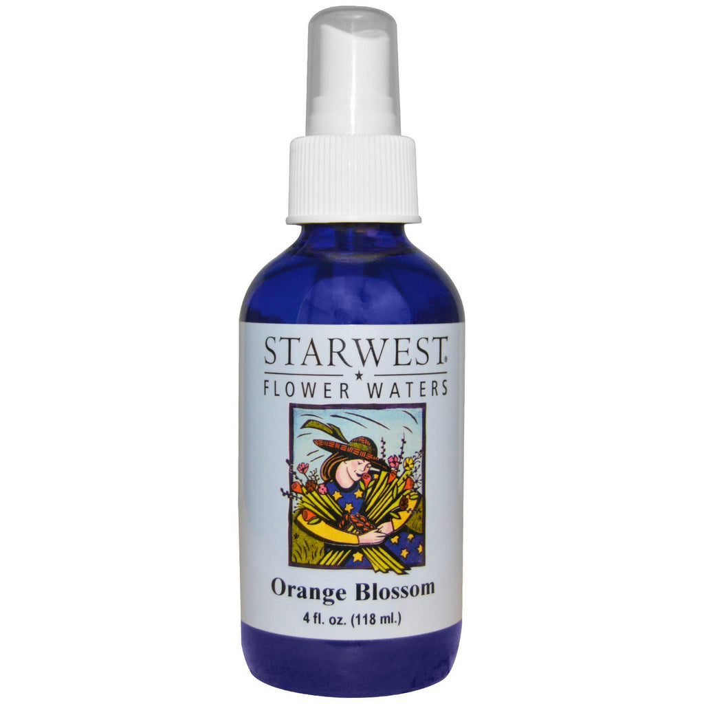 Starwest Botanicals, Flower Waters, Orange Blossom, 4 fl oz (118 ml)