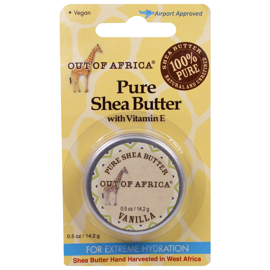 Out of Africa Pure Shea Butter with Vitamin E Vanilla 0.5 oz (14.2 g)