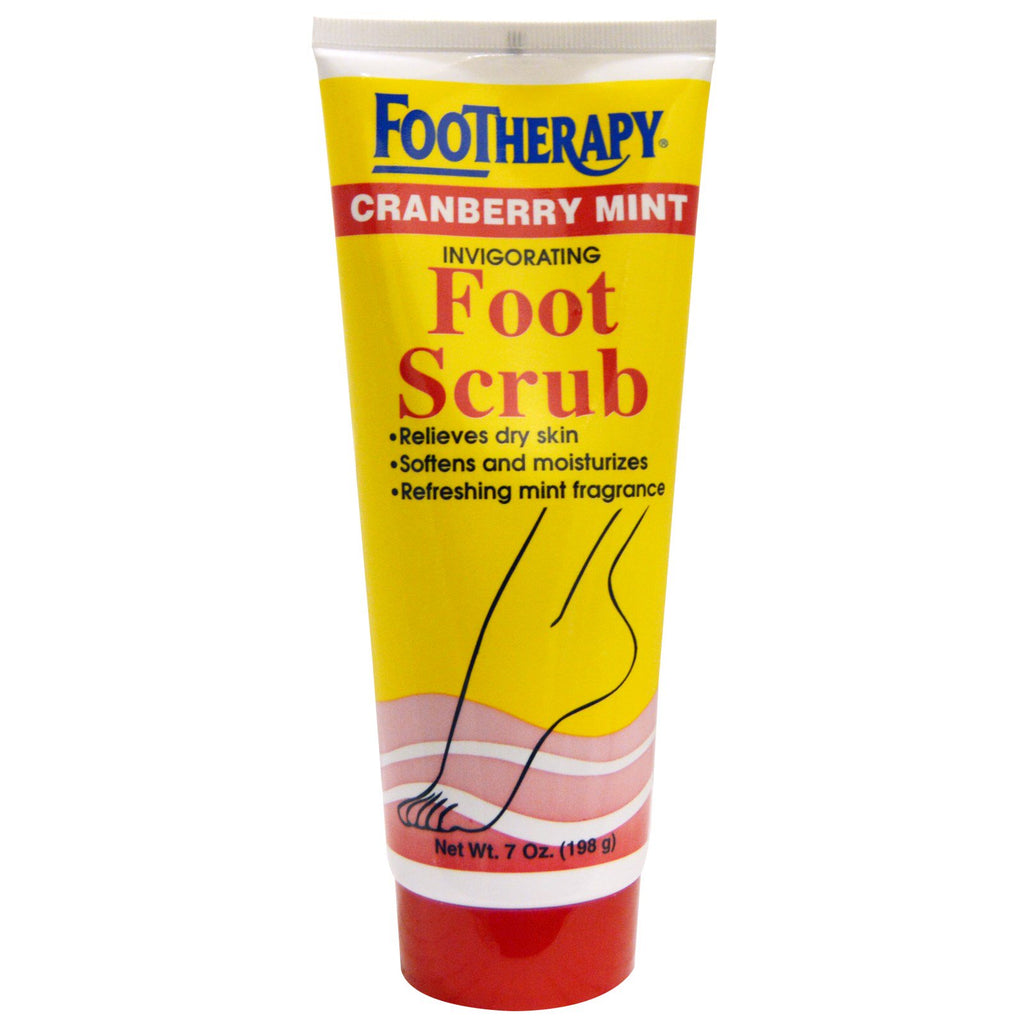Queen Helene, Footherapy, Invigorating Foot Scrub, Cranberry Mint, 7 oz (198 g)