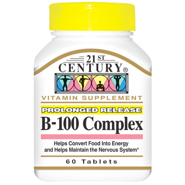 21st Century, B-100 Complex, Prolonged Release, 60 Tablets