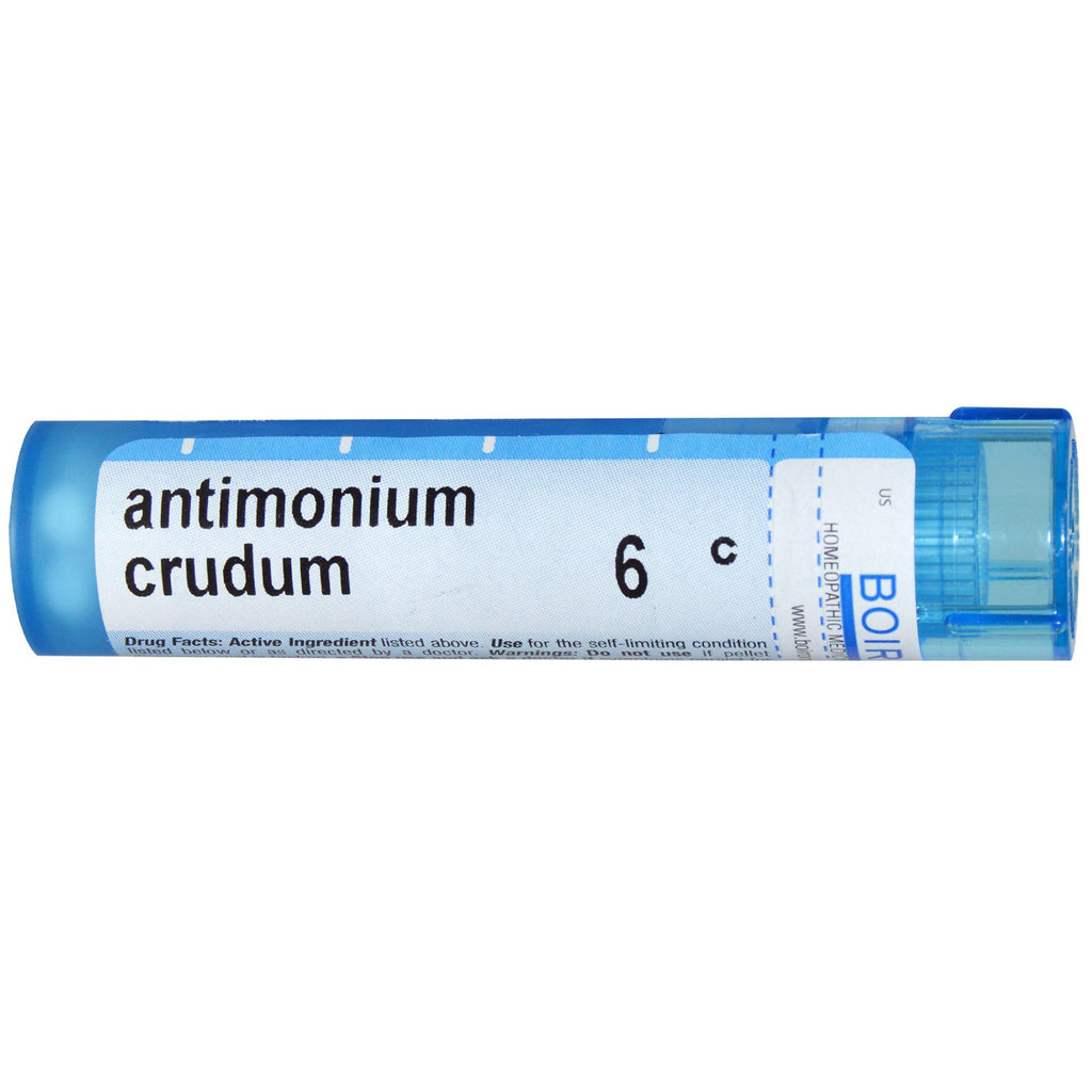 Boiron, Single Remedies, Antimonium Crudum, 6C, Approx 80 Pellets