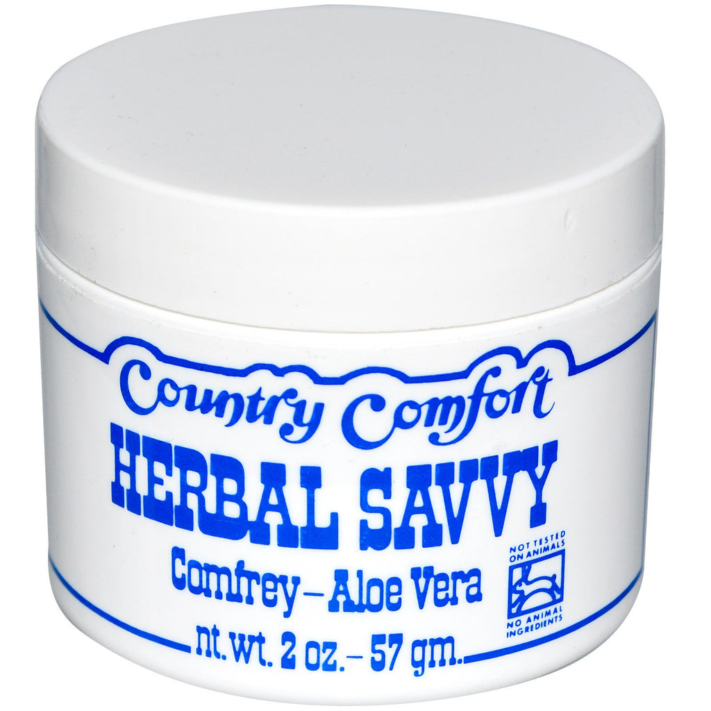 Country Comfort, Herbal Savvy, Comfrey- Aloe Vera, 2 oz (57 g)