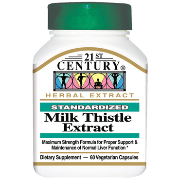 21st Century, Milk Thistle Extract, 60 Veggie Caps