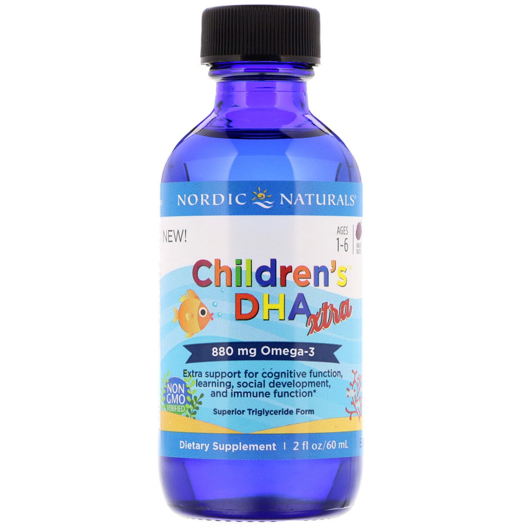 Nordic Naturals, Children's DHA Xtra, Berry Punch, 2 fl oz (60 ml)