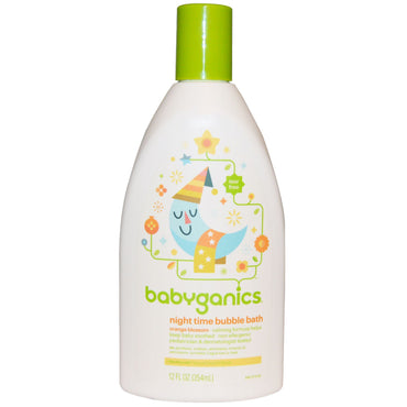 BabyGanics Night Time Bubble Bath Orange Blossom 12 fl oz (354 ml)