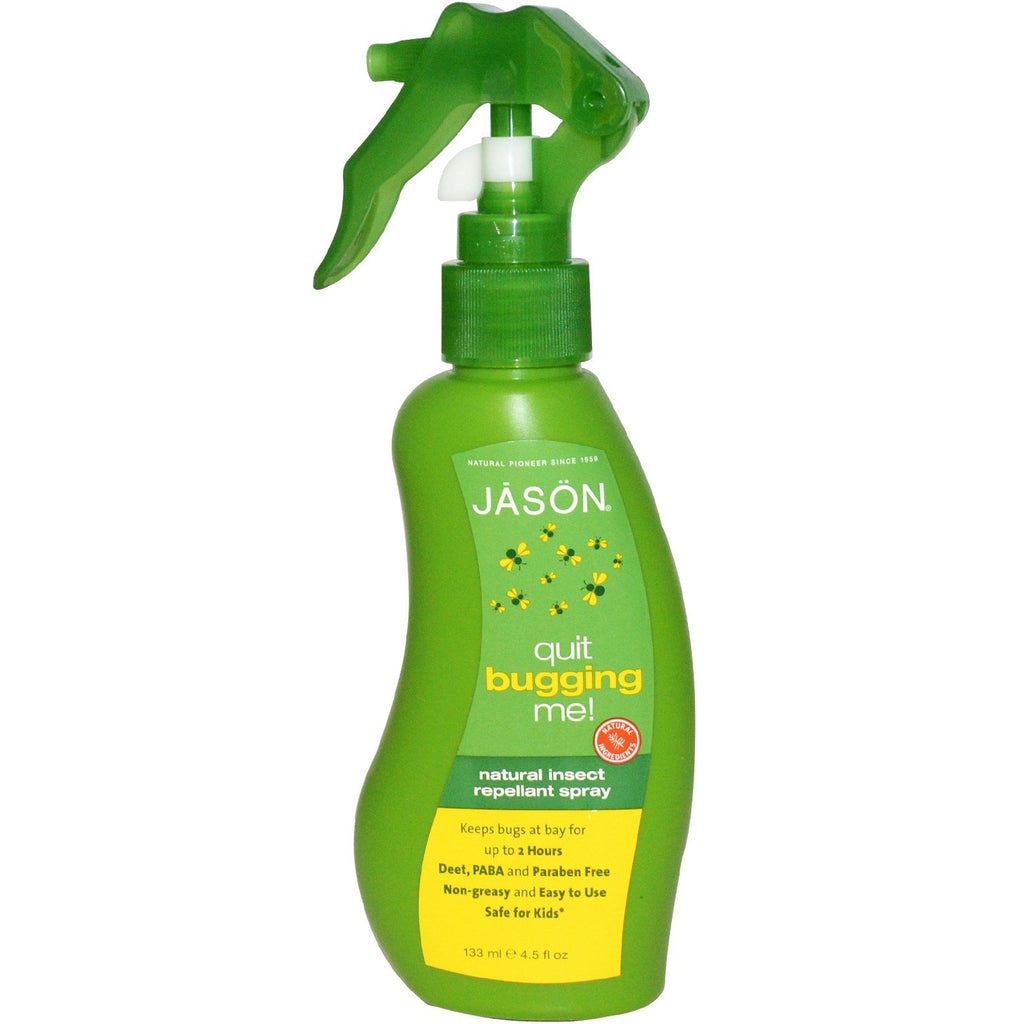 Jason Natural, Quit Bugging Me!, Natural Insect Repellant Spray, 4.5 fl oz (133 ml)