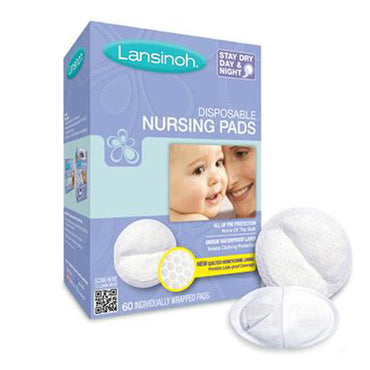 Lansinoh, Disposable Nursing Pads, 60 Individually Wrapped Pads