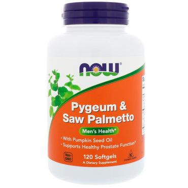 Now Foods, Pygeum & Saw Palmetto, 120 Softgels
