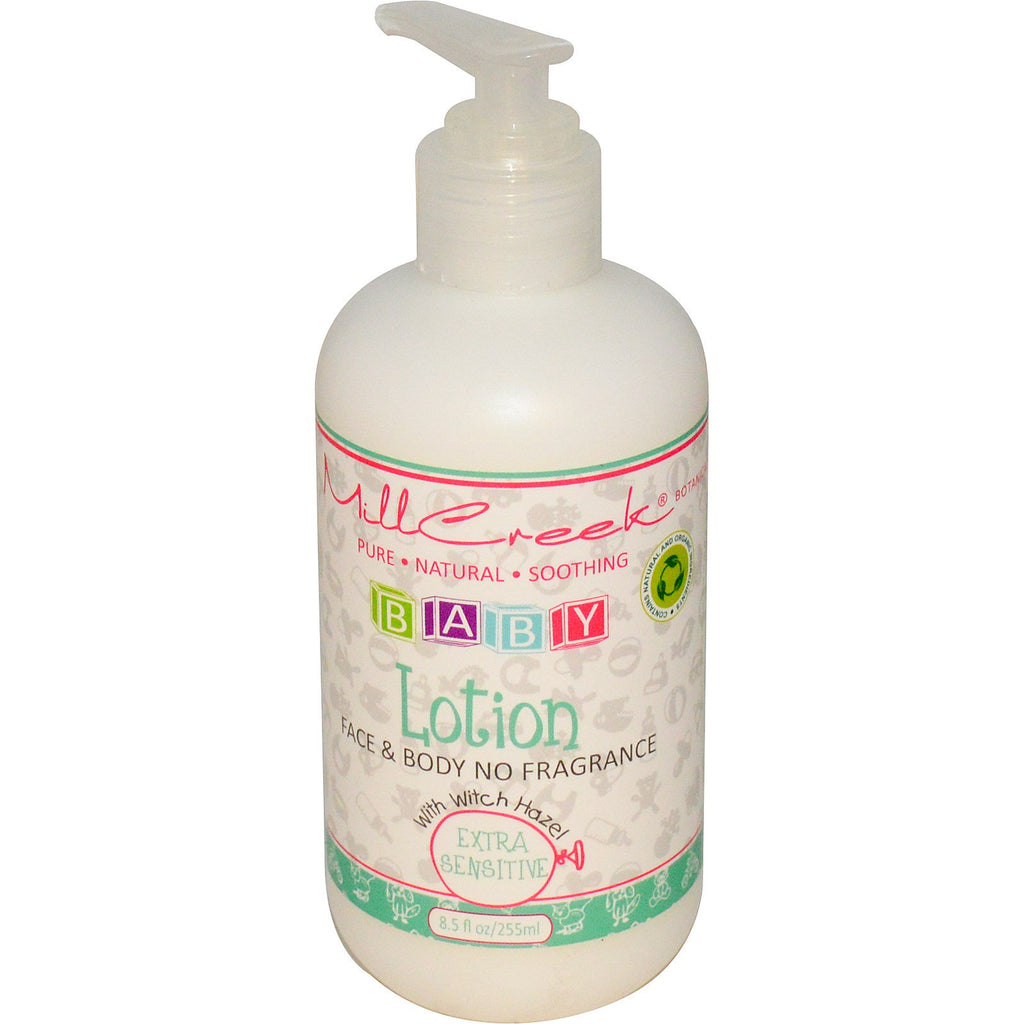 Mill Creek Baby Lotion with Witch Hazel Extra Sensitive 8.5 fl oz (255 ml)