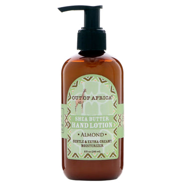 Out of Africa, Shea Butter Hand Lotion, Almond, 8 fl oz (240 ml)
