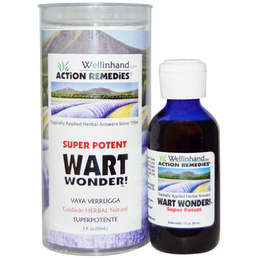 Wellinhand Action Remedies, Super Potent, Wart Wonder!, 2 fl oz (60 ml)