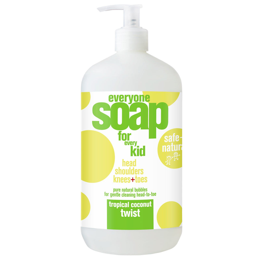 EO Products, Everyone Soap for Every Kid, Tropical Coconut Twist, 32 fl oz (946 ml)