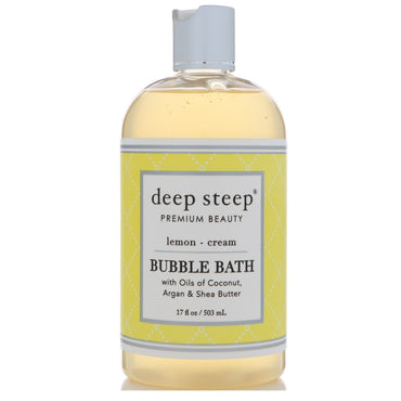 Deep Steep, Bubble Bath, Lemon - Cream, 17 fl oz (503 ml)