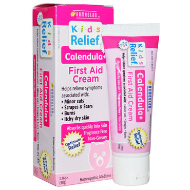 Homeolab USA, Kids Relief, First Aid Cream, Calendula +, 1.76 oz (50 g)
